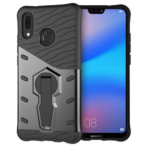 Slim Shield Tough Shockproof Case for Huawei Nova 3e - Grey